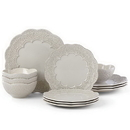 Lenox 885636 Chelse Muse Scallop Grey™ 12-piece Dinnerware Set