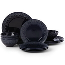 Lenox 886304 Chelse Muse Fleur Navy™ 12-piece Dinnerware Set