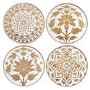 Lenox 886749 Global Tapestry™ Gold 4-piece Assorted Tidbit Plate Set