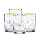 Lenox 886861 Holiday™ Gold Double Old Fashioned 4-piece Glass Set