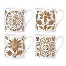 Lenox 888105 Global Tapestry™ Gold 4-piece Assorted Mug Set