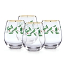 Lenox 888202 Holiday™ 4-piece Stemless Wine Glasses