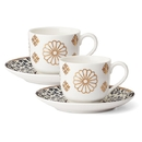 Lenox 889455 Global Tapestry™ Sapphire 4-piece Espresso Cup and Saucer Set