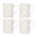 Lenox 890122 Textured Neutrals™ Lattice 4-piece Mug Set
