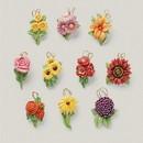 Lenox 890508 Fall Flowers 10-Piece Ornament Set