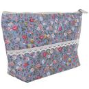 Aspire 6-Piece Floral Zipper Bag, Canvas Bag with Bottom, Bride Makeup Bags