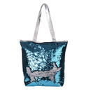 Aspire Magic Sequin Tote Bag, PU Leather Handbag with Zipper