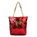 Aspire Magic Sequin Tote Bag, PU Leather Handbag with Zipper