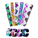 Aspire 60 Pcs Mermaid Slap Bracelets Reversible Sequins Flip Wristband Party Favors Carnival Prize
