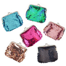 Aspire 6 Pieces Reversible Sequin Double Coin Purses Magic 2-Color Mermaid Sequin Pouches