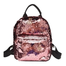 Aspire Small Sequins Backpack Purse, 8 x 10 1/4 x 4 Inches PU Leather School Backpack
