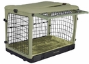 Pet Gear PG5927BSG Deluxe Steel Dog Crate with Bolster Pad - Small/Sage
