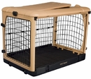 Pet Gear PG5927TN Deluxe Steel Dog Crate With Pad - Small