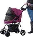 Pet Gear PG8030NZBB Happy Trails Lite NO-ZIP Pet Stroller - Boysenberry