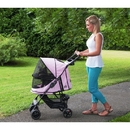 Pet Gear PG8100NZPD Happy Trails No-Zip Pet Stroller - Pink Diamond
