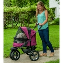 Pet Gear PG8700NZBB No-Zip Double Pet Stroller - Boysenberry