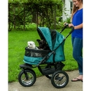 Pet Gear PG8700NZPG No-Zip Double Pet Stroller - Pine Green