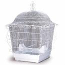 Prevue Hendryx PP-220W Elegant Scrollwork Bird Cage - White