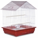Prevue Hendryx PP-25211/R Offset Roof Parakeet Cage - Red