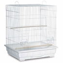 Prevue Hendryx PP-25212/W Square Roof Parakeet Cage - White
