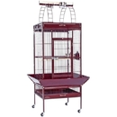 Prevue Hendryx PP-3152RED Medium Wrought Iron Select Bird Cage - Garnet Red
