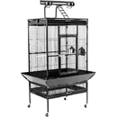 Prevue Hendryx PP-3153BLK Large Select Wrought Iron Play Top Bird Cage - Black