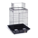 Prevue Hendryx PP-851B/B Clean Life Play Top Bird Cage - Black