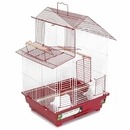 Prevue Hendryx PP-SP41614R House Style Bird Cage - Red
