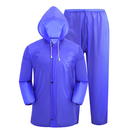 GOGO PVC Rain Suit for Adult Youth, 2 Pieces Jacket with Pants