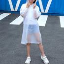 GOGO EVA Unisex Raincoat with Buttons Drawstring Hood, Wholesale EVA Rain Coat for Kid