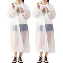 GOGO EVA Reusable Raincoats with Drawstring Hoods for Adult & Kid