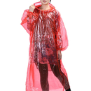 GOGO Unisex Disposable Raincoat for Adult, Wholesale Drawstring Hood and Sleeves