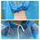 """GOGO Unisex Disposable Raincoat, Wholesale Drawstring Hood and Sleeves,33 1/2"""" x 43 1/4""""  Blue"""