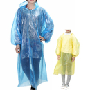 GOGO Disposable Raincoats with Drawstring Hood and Sleeves Adult & Kid Size