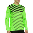 TOPTIE Long Sleeve Soccer Goalkeeper Jersey with Sponge Protector for Adult Youth, Arm Padded Goalie Shirt