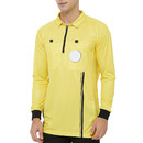 TOPTIE Men's Official Soccer Long Sleeve Referee Jersey USSF Pro Uniform
