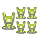 GOGO V Shape Reflective Vest High Visibility Cycling Safety Vest Running Gear, Universal Size, Pack of 5