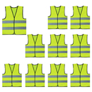 GOGO 10 Pack Child Reflective Vest For Outdoors Sports, Safety Vest, Preschool Uniforms, One Size