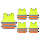 GOGO 5 Pack Kid's Reflective Vest For Running Cycling, Walking Safety Vest