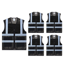 TOPTIE Pack of 5 Wholesale Unisex Volunteer Vest Safety Reflective Running Cycling Vest with Pockets