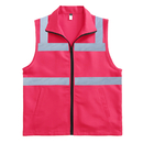 TOPTIE 50 PCS Unisex High Visibility Zipper Front Safety Vest With Collar & Pockets Wholesale