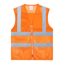 TOPTIE 50 PCS Safety Vest Zipper Front High Reflective Visibility Vest, Mesh Hi-Vis Vest Wholesale