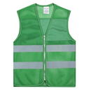 TOPTIE 12 PCS High Reflective Visibility Zipper Front Mesh Safety Vest With Sliver Strips Wholesale