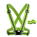 GOGO High Visibility & Comfortable Reflective Vest, Gear for Jogging, Biking, Walking, 2 x Armbands Included