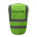 GOGO SURVEYOR Safety Vest, 8 Pockets High Visibility Zipper Front Safety Vest With Reflective Strips