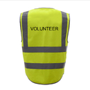 GOGO VOLUNTEER Safety Vest, 8 Pockets High Visibility Zipper Front Reflective Vest