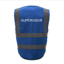 GOGO SUPERVISOR Safety Vest, 8 Pockets High Visibility Zipper Front Reflective Vest
