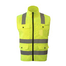 GOGO 4 Pockets Adult Volunteer Vest Zipper Front Safety Vest with Reflective Strips