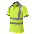 2 PCS Wholesale GOGO Men's Polo Shirts Hi Vis Short Sleeve Safety Work-wear Shirt