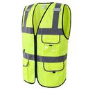 GOGO Custom Men 5 Pockets Ultra Cool Mesh Safety Vest, Mesh Volunteer Vest, ANSI Standard